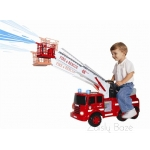 Paspirtukas-mašina Electric Fire Engine Ride-On Toy for Children light & sound, Adjustable Ladder with Real Water Removal Function