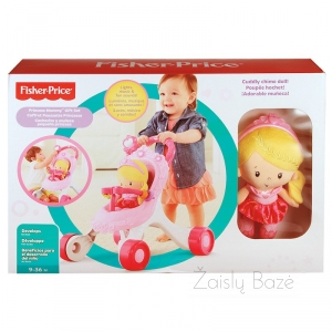 Fisher-Price Princess Stroller-Along Musical Walker Mommy Gift