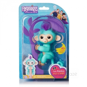 Interaktyvi bezdžionėlė Fingerlings Zoe Interactive Pet Baby Monkey WowWee