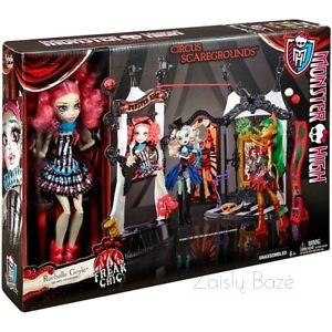 Lėlė Monster High Freak Du Chic Circus Scaregrounds Doll Playset