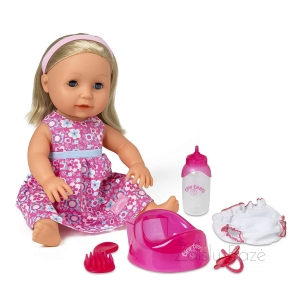 Lėlė Tiny Tears Girl Doll Playset, Drinking, Crying & Wetting Doll