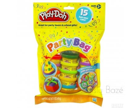Play-Doh modelino rinkinys Party Bag Cans and Stickers 420g